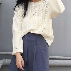 Dute - Pointelle Knit Sweater