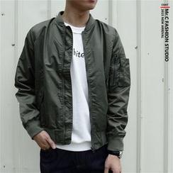 Mr.C studio - Plain Bomber Jacket
