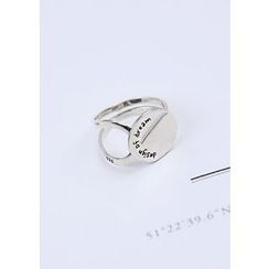 Chlo.D.Manon - Lettering Disc Tiered Silver Ring