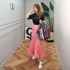 DABAGIRL - Slit-Side Maxi Mermaid Skirt