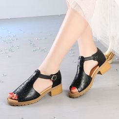 Hannah - Perforated Sandals