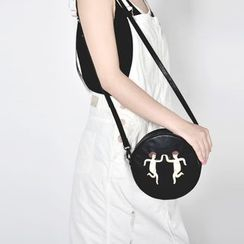 KIITOS - Printed Round Shoulder Bag