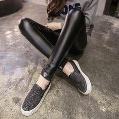 Clover Dream - Faux Leather Leggings
