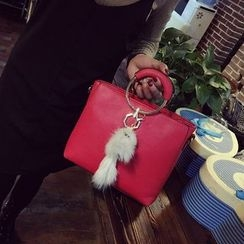 Bag Affair - 金屬環手帶仿皮手提包
