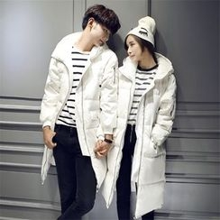 Bay Go Mall - Couple Matching Hooded Down Coat