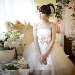 Luxury Style - Strapless Bow Evening Dress