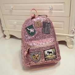 Nautilus Bags - Applique Sequined Backpack