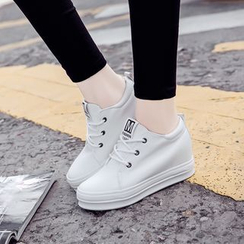 EUNICE - Hidden Wedge Platform Sneakers