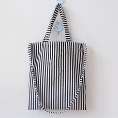 TangTangBags - Striped Canvas Shopper Bag
