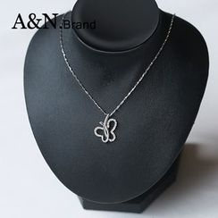 AINIAN - 925 Sterling Silver Butterfly Necklace