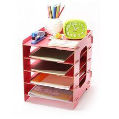 Color Station - Wooden Desk Organizer