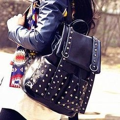 Sugar Plum - Studded Faux Leather Backpack