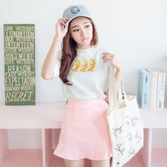 Tokyo Fashion - Short-Sleeve Embroidery T-Shirt