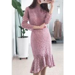 MyFiona - Long-Sleeve Lace Sheath Dress