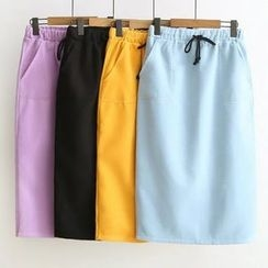 Nycto - Plain Midi Skirt