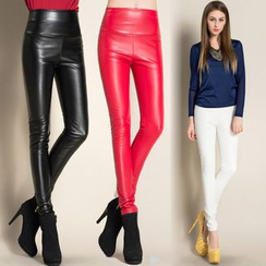 Lovebirds - Faux-Leather Skinny Pants
