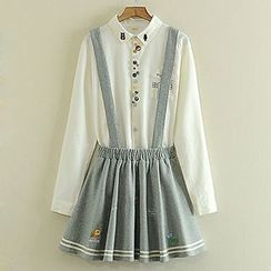 Storyland - Embroidered Suspender Skirt