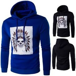 Blueforce - Skull Print Hoodie