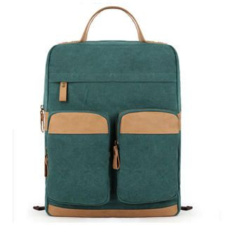 Mr.ace Homme - Leather-Trim Canvas Backpack