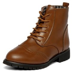 yeswalker - Wing-Tip Lace-Up Boots