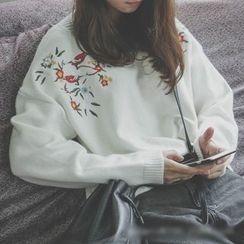 Polaris - Bird Embroidered Sweater