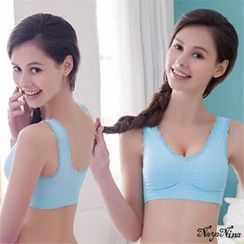 Naya Nina - Lace Elasticized Sporty Wireless Bra
