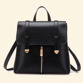 BeiBaoBao - Faux Leather Convertible Backpack
