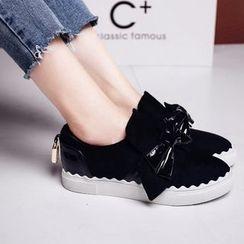 錦洋鞋業 - 厚底蝴蝶結輕便鞋