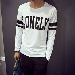 maxhomme - Lettering Long-Sleeve T-Shirt