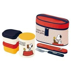 Skater - Snoopy Thermal Lunch Box Set
