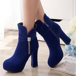 Pretty in Boots - Chunky Heel Short Boots