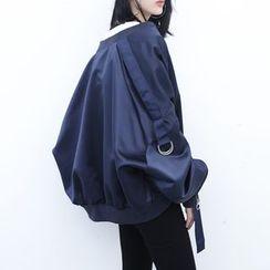 Sonne - 光泽缎面飞行员短外套