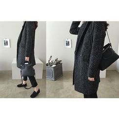 DAILY LOOK - Herringbone Wool Blend Coat