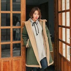 Seoul Fashion - Faux-Shearling Lined Parka