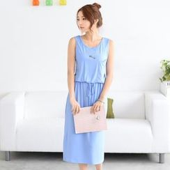 59 Seconds - Drawstring Waist Tank Dress