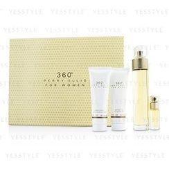 Perry Ellis - 360 Coffret: Eau De Toilette Spray 100ml/3.4oz + Body Lotion 90ml/3oz + Shower Gel 90ml/3oz + EDT Spray 7.5ml/0.25oz
