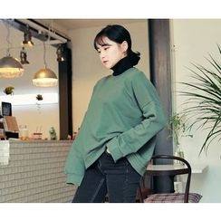 HOTPING - Slit-Sleeve Loose-Fit Sweatshirt