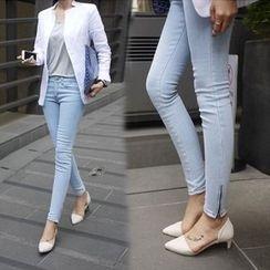 绮优 - 窄身牛仔裤