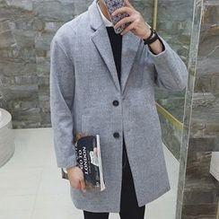百高 - 毛呢長款大衣