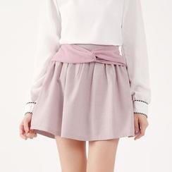 Tokyo Fashion - Bow-Accent Check Culottes