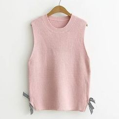 Suzette - Striped Bow Knit Vest