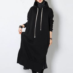 FASHION DIVA - Hooded Long Pullover Dress