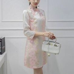 Wisteria - Embroidered Qipao