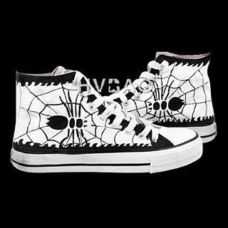 HVBAO - 'Spider' High-Top Canvas Sneakers