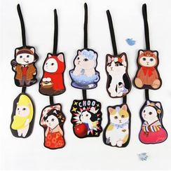 Full House - Cat-printed Luggage Tag