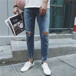 Mr. Cai - Distressed Tapered Jeans