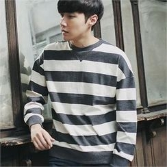 MITOSHOP - Colored Striped Sweatshirt