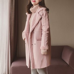 Cocofield - Double-breasted Fleece-lined Coat