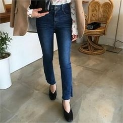 QNIGIRLS - Slit-Hem Boot-Cut Jeans