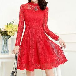 Romantica - Long-Sleeve Lace Party Dress